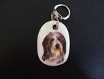 Bearded Collie Keyring