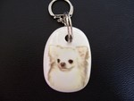 Chihuahua Long Coat Keyring