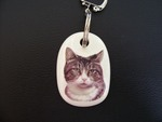 Tricolour Short Hair Cat Keyring