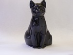 Black Cat Toilet Brush Holder